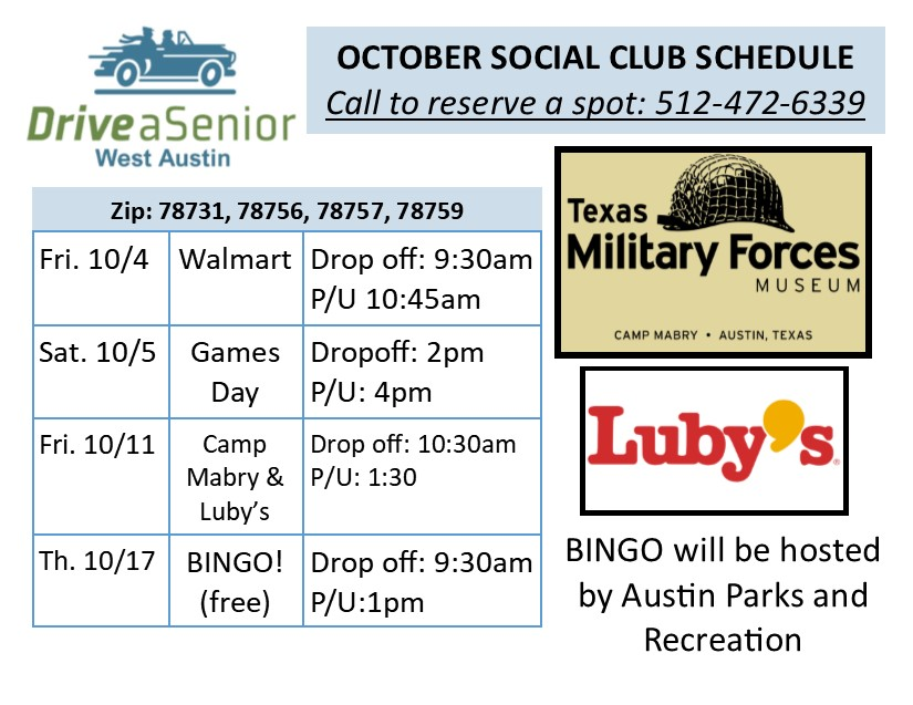 Social outing schedule